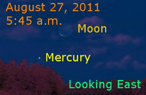 Mercury and the Moon