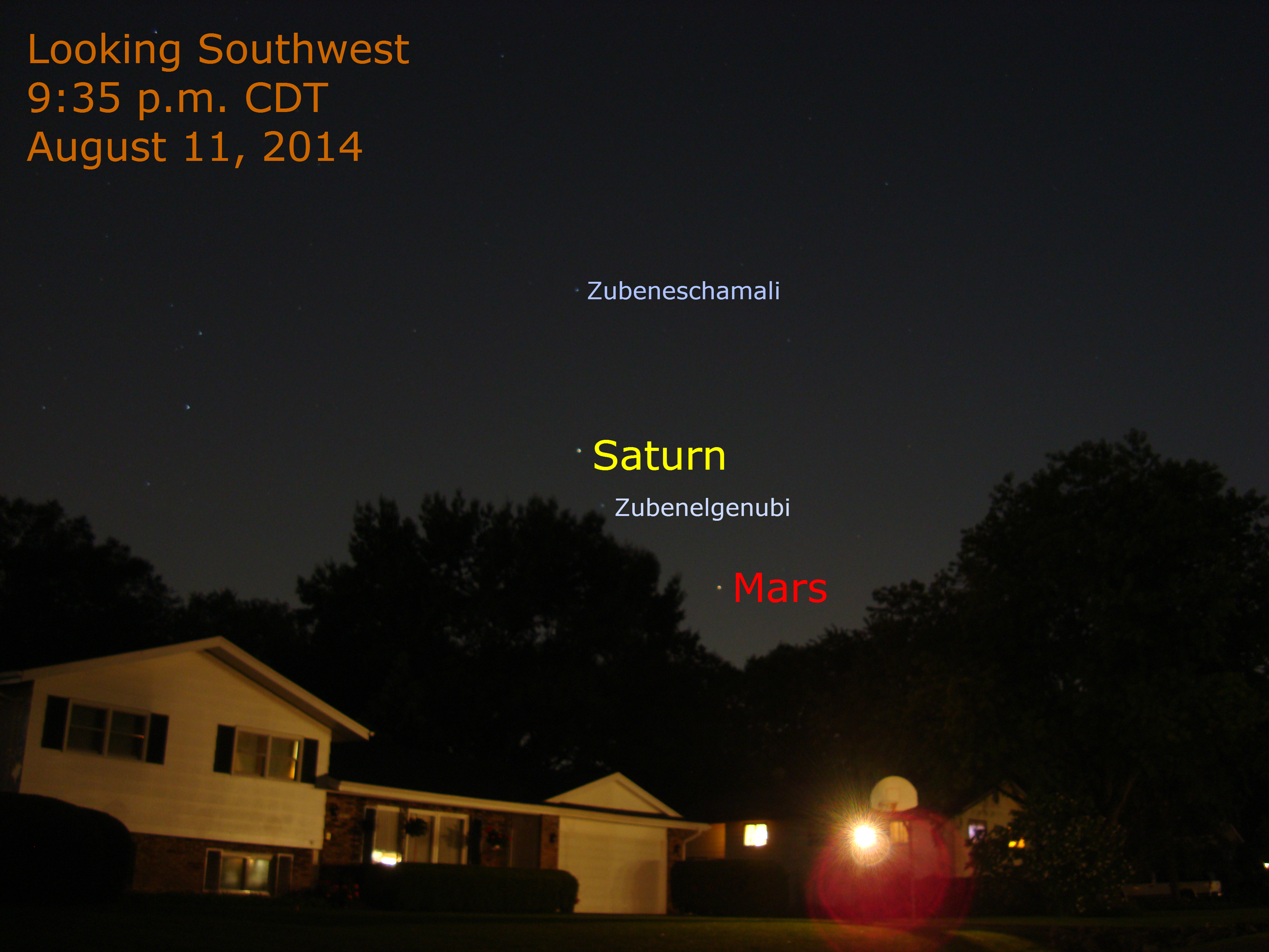 Mars and Saturn Tonight, August 11, 2014 | When the Curves ...