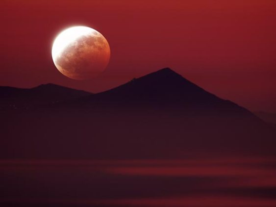 A total lunar eclipse is visible across Asia, Australia, and the Pacific Basin. Western North America sees most of the total phase of the eclipse.