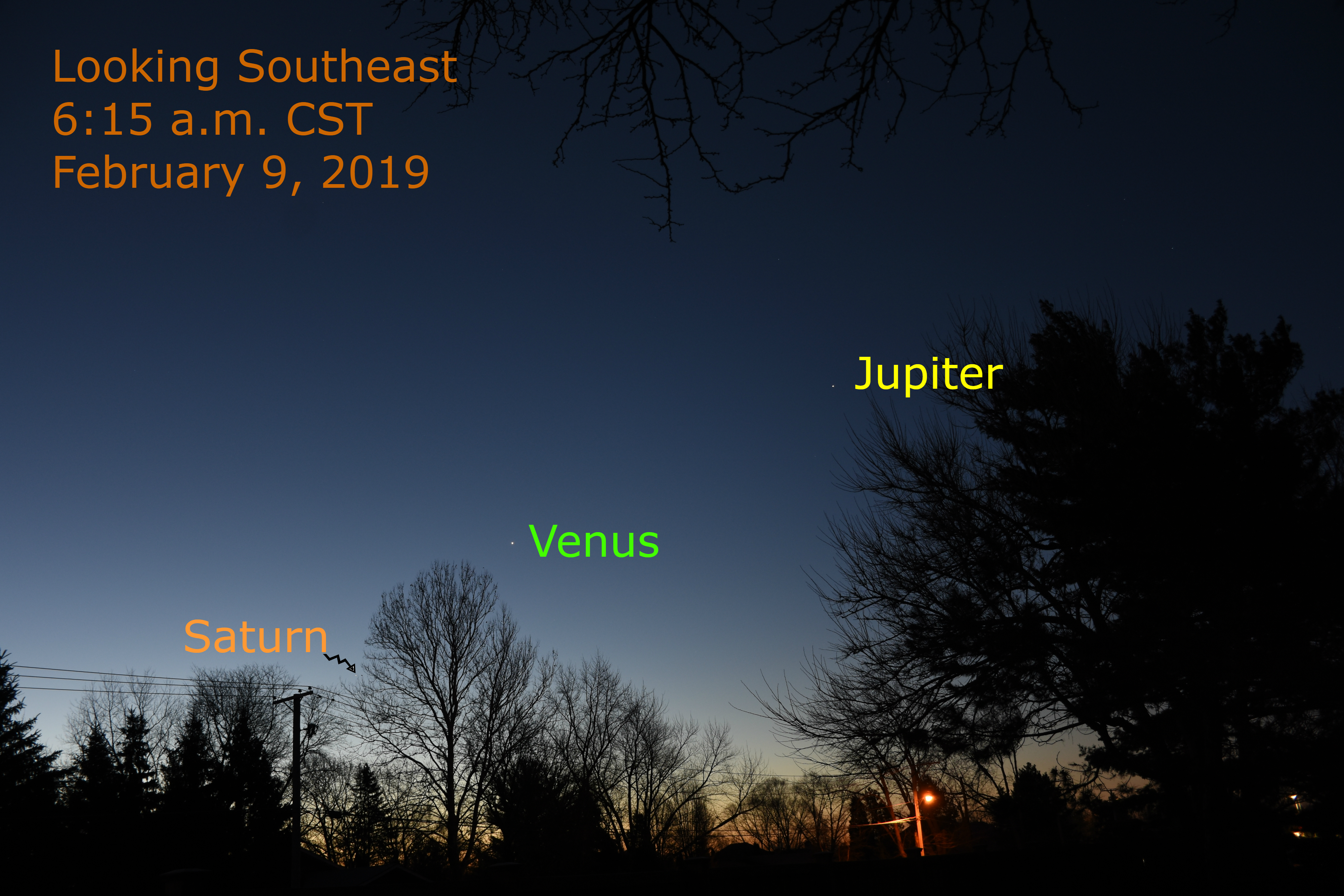 2019, February 18: A Venus-Saturn Conjunction – When the Curves Line Up