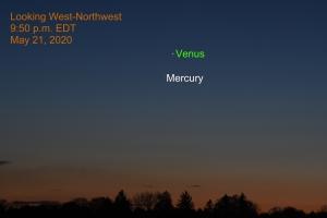 Venus and Mercury, May 21, 2020