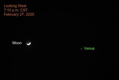 Crescent Moon and Venus, February 27