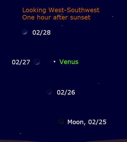 Venus and Moon February 2020