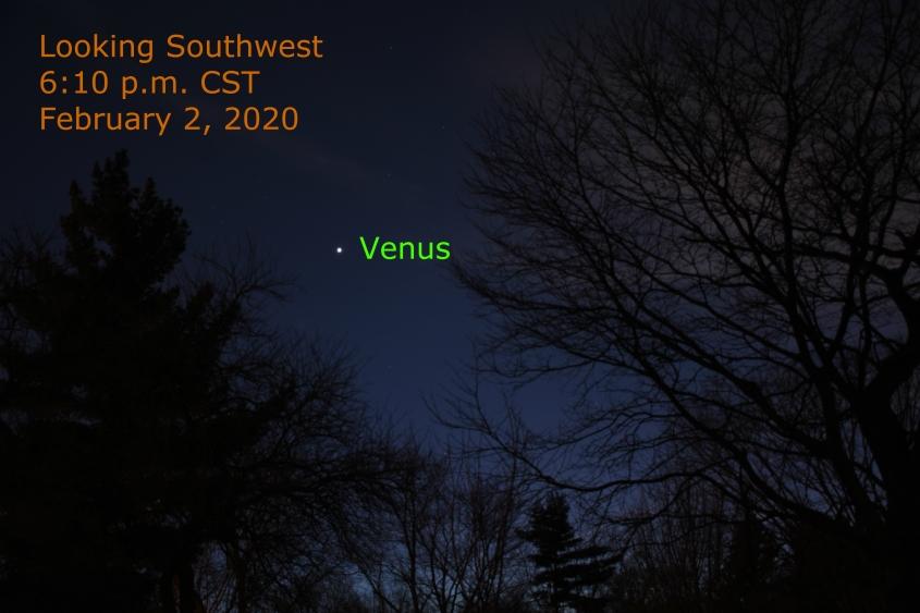 Venus shines in southwest