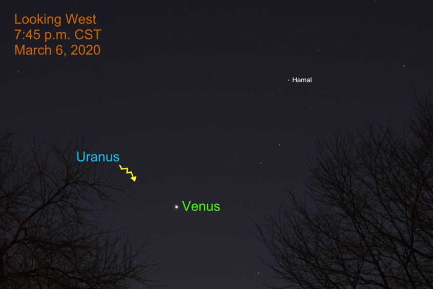 Brilliant Venus in west, March 6, 2020