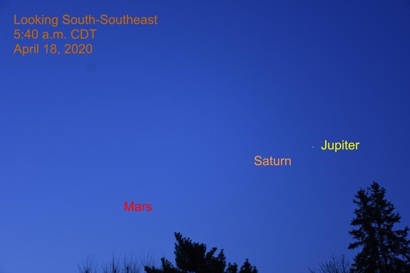Morning Planets, April 18, 2020