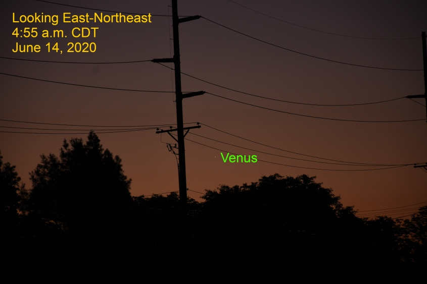 Venus returns to the morning sky, June 14, 2020