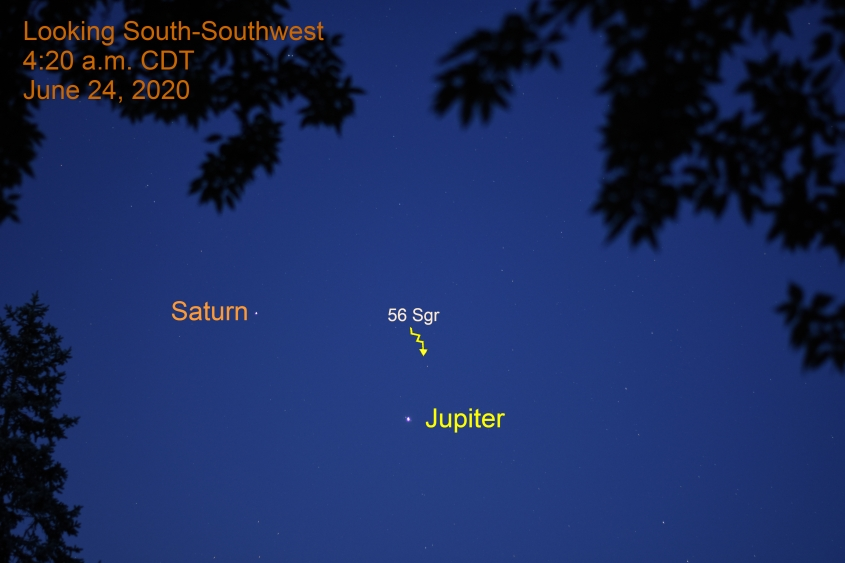 Jupiter and Saturn, June 24, 2020