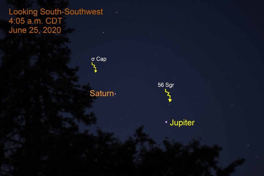 Jupiter and Saturn, June 25, 2020