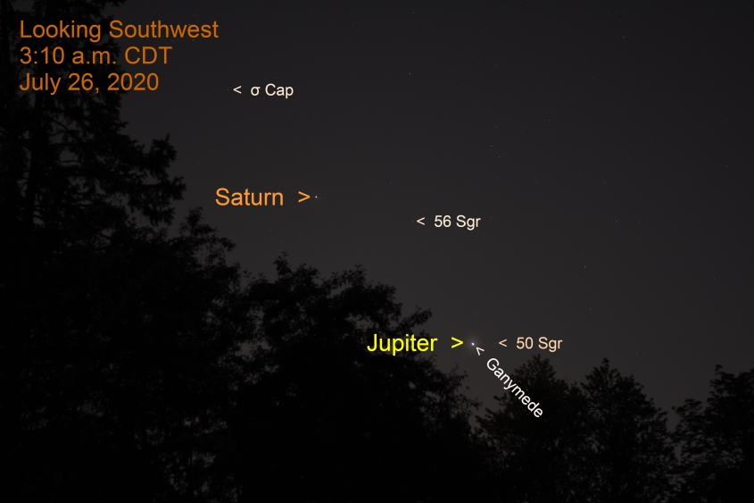 Jupiter and Saturn. July 26, 2020
