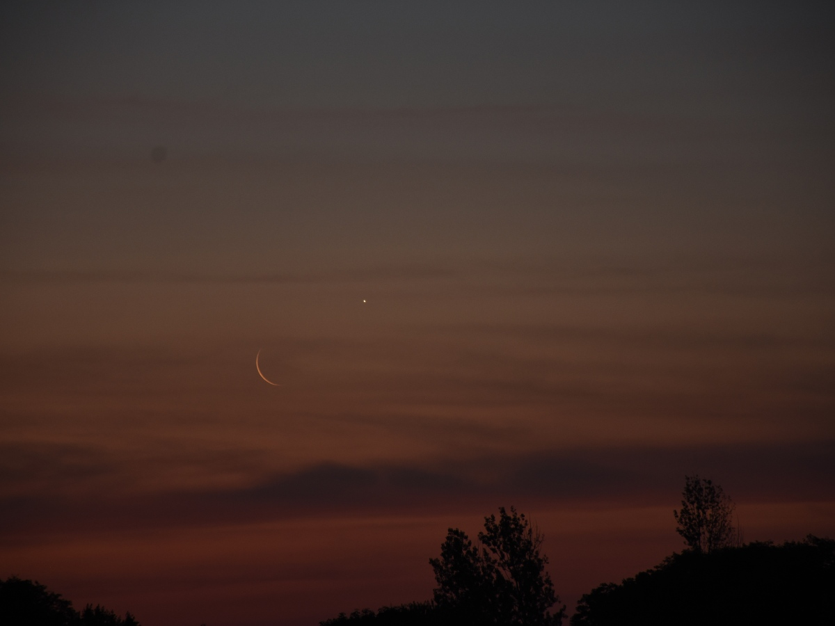 Venus and the moon, June 29, 2020.