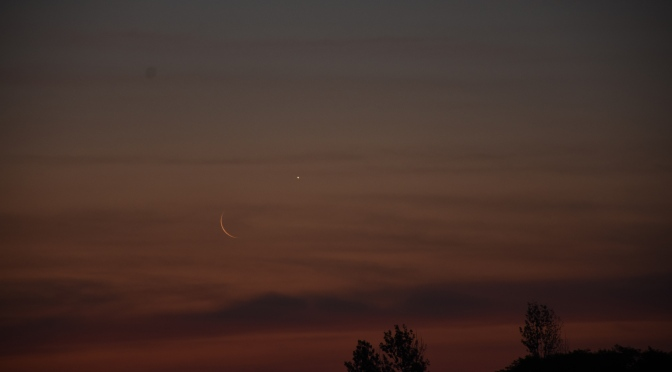 2020, October 25: Morning Star Venus, Evening Moon, Planets