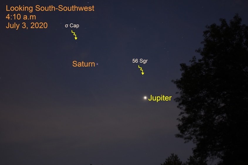 Jupiter and Saturn, July 3, 2020