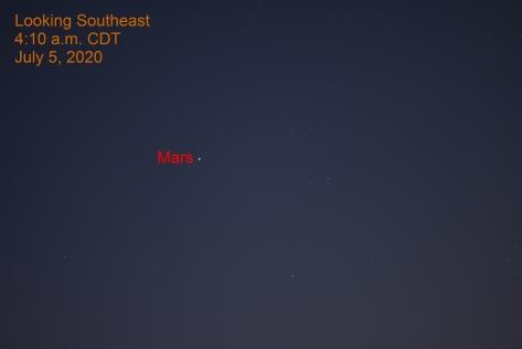 Mars, July 5, 2020.