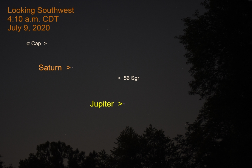 Jupiter and Saturn, July 9, 2020