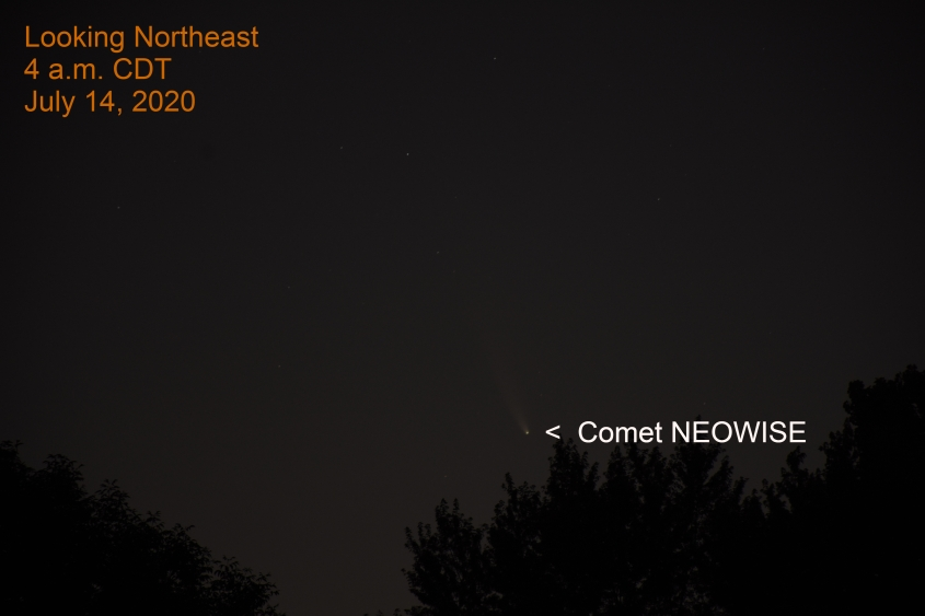 Comet NEOWISE, July 14, 2020