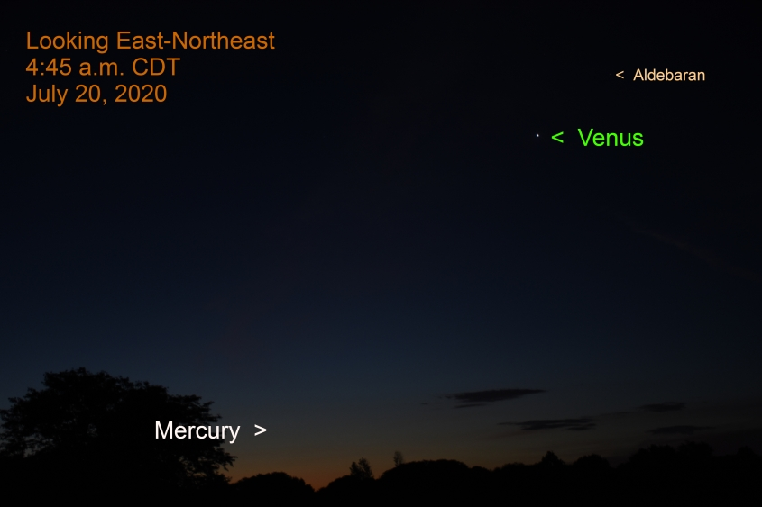 Mercury and Venus, July 20, 2020