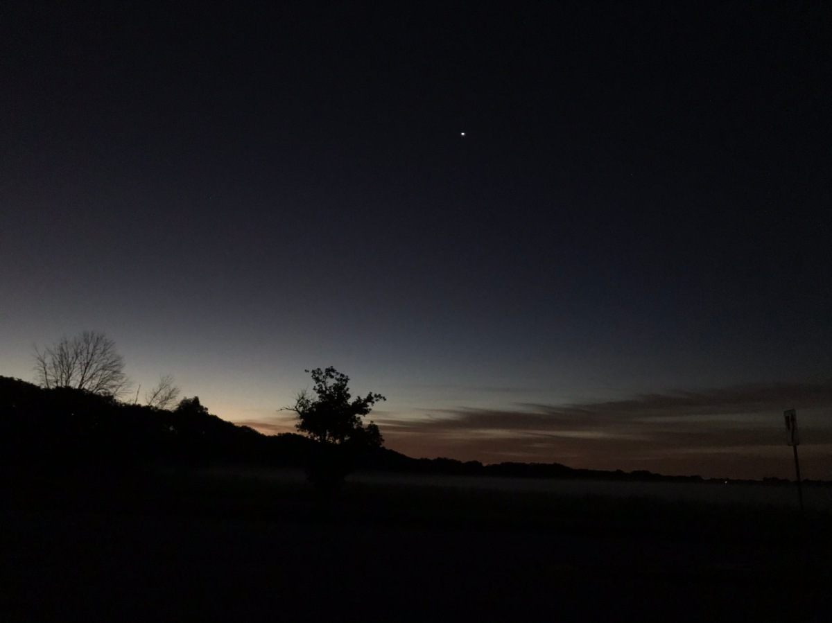 Venus in morning sky, August 12, 2020