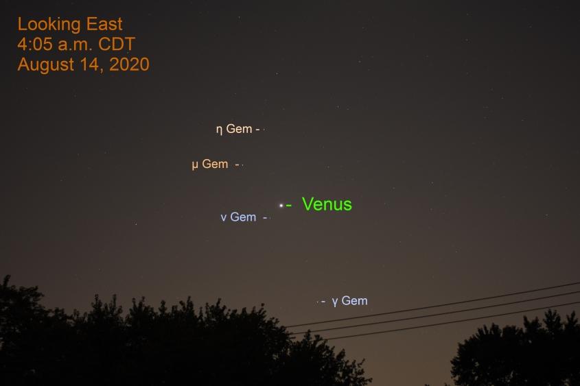 Venus in Gemini, August 14, 2020