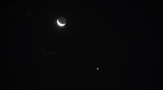 Moon and Venus, August 15, 2020