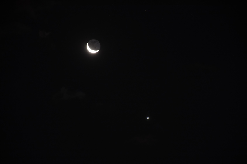 Moon and Venus, August 15, 2020