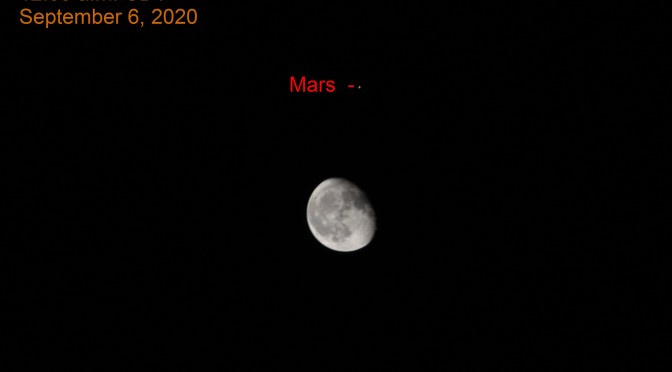 2020, October 2-3:  Moon, Mars Together