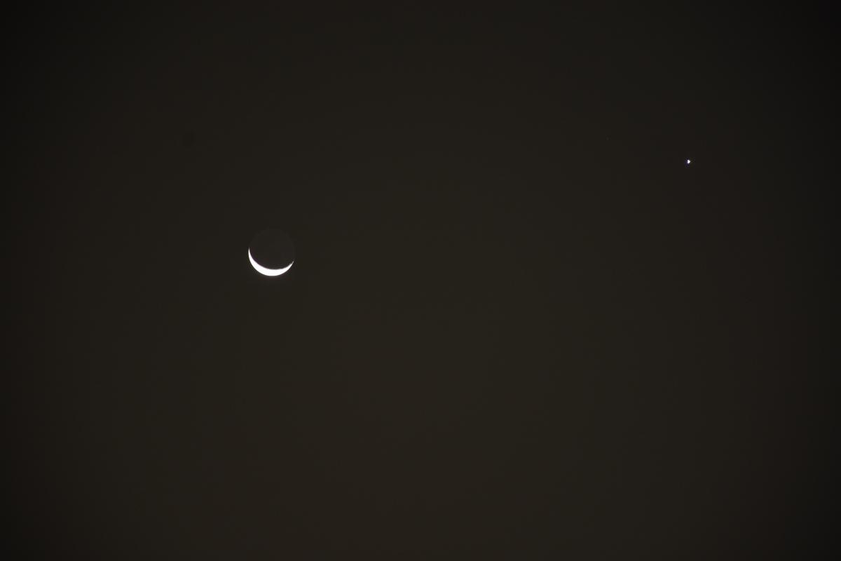 Venus and Moon, September 14, 2020