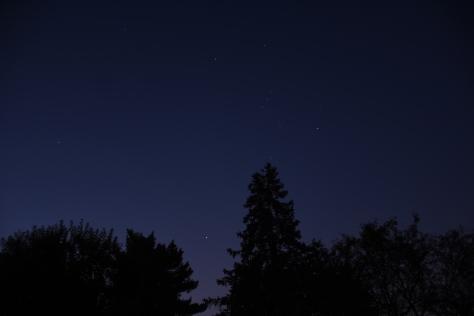 Venus, Sirius, and Orion, September 18, 2020