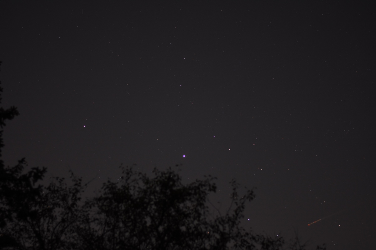 Jupiter and Saturn in Sagittarius, October 4, 2020.