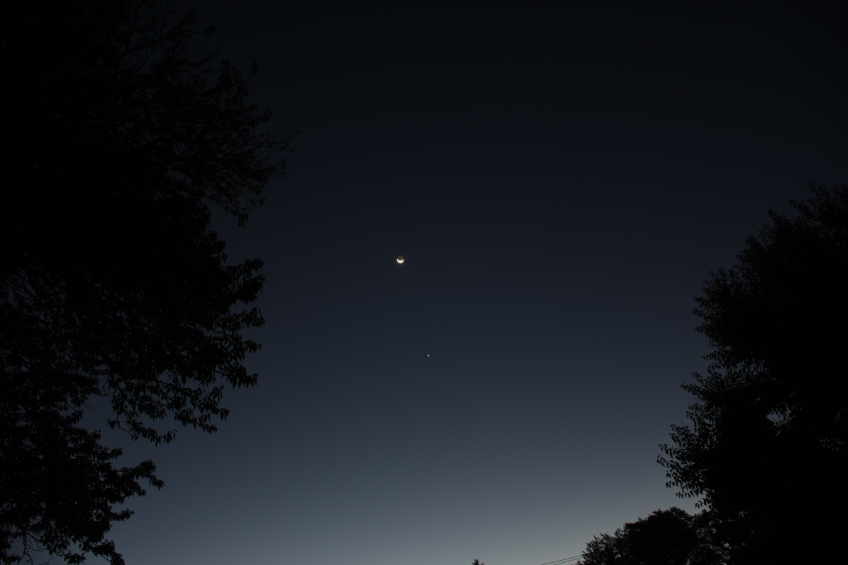 Venus and Moon, October 13, 2020